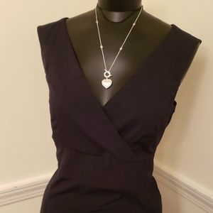 Women's sz 14 Black sleeveless Stretch GAP Dress